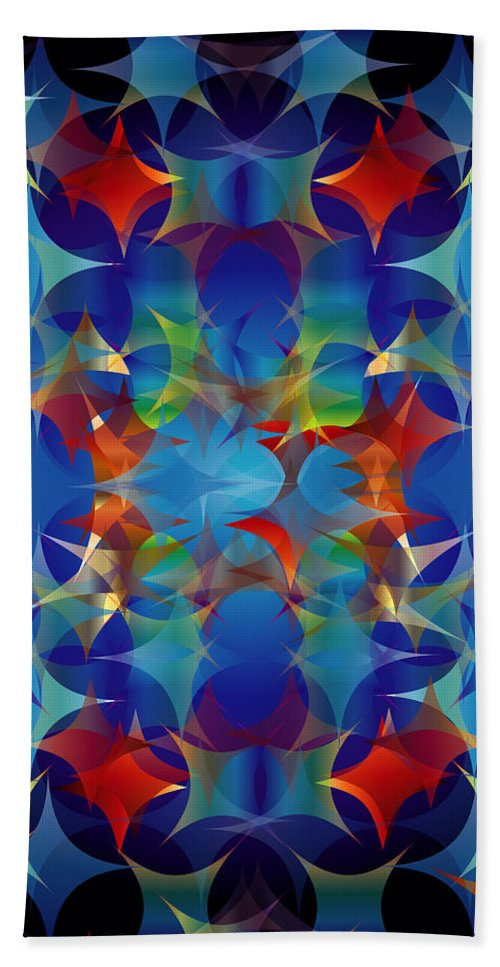 Color Beach Towel featuring the digital art Layers Of Color 3 by George Pasini