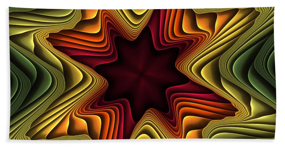Fractal Beach Towel featuring the digital art Layers Of Color by Deborah Benoit