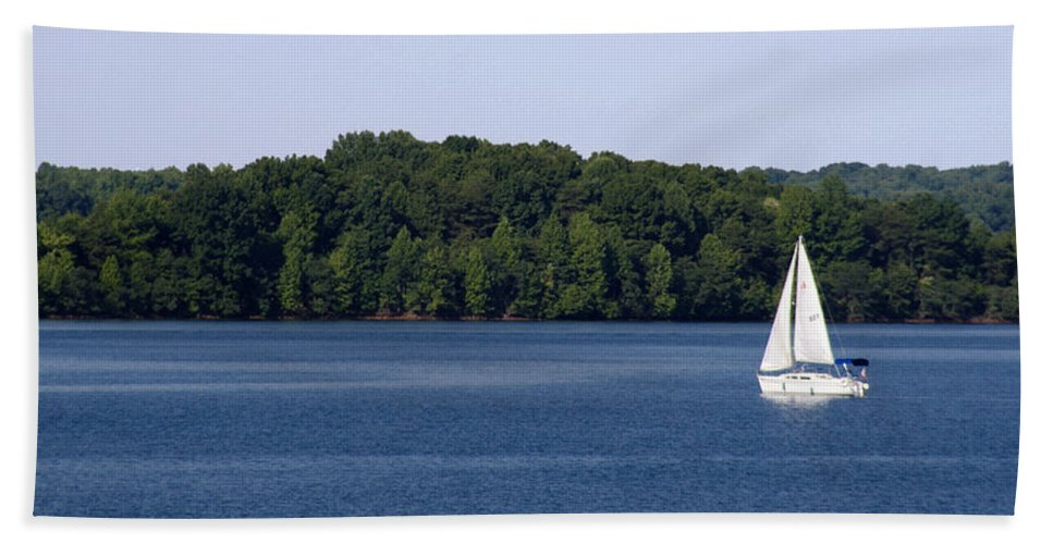 Lake Beach Towel featuring the photograph Lazy Sunday by Jean Macaluso