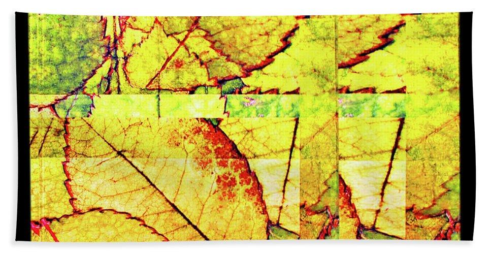 Autumn Beach Towel featuring the digital art Leaf Abstract by Joan Minchak