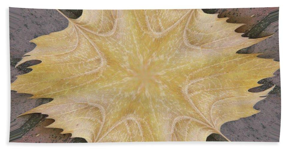 Leaf Beach Towel featuring the photograph Leaf On Bricks 6 by Tim Allen