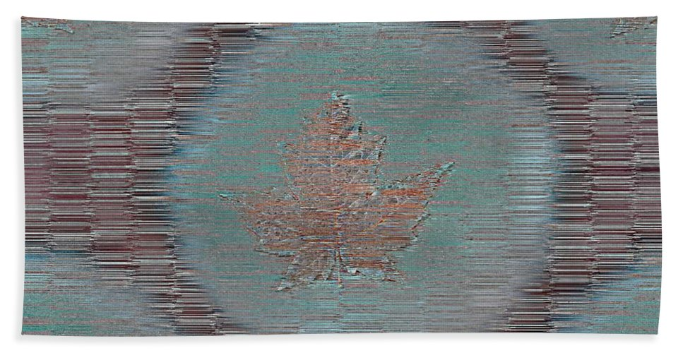 Leaves Beach Towel featuring the photograph Leaves And Rain 7 by Tim Allen