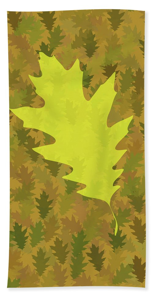 Leaves Beach Towel featuring the digital art Leaves by Bruce