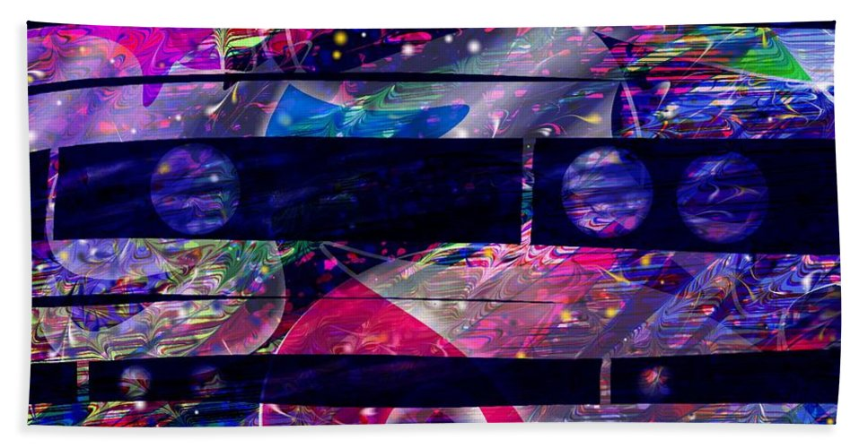 Abstract Beach Towel featuring the digital art Leftovers by Rachel Christine Nowicki