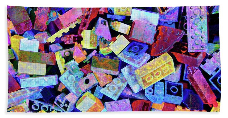 Lego Beach Towel featuring the digital art Legos by Barbara Berney