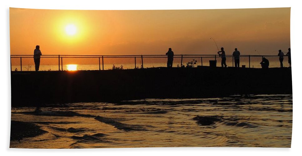 Weekend Beach Towel featuring the photograph Leisure Weekend by Frozen in Time Fine Art Photography