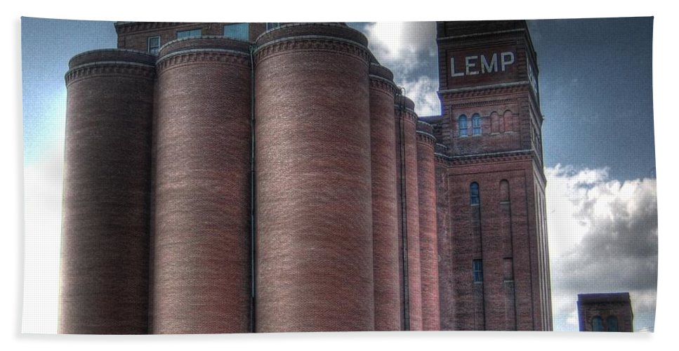 St. Louis Beach Towel featuring the photograph Lemp Brewery by Jane Linders