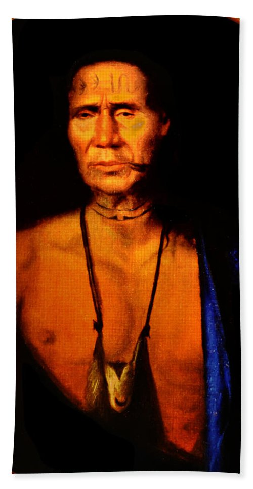 Lenne Beach Towel featuring the photograph Lenape Chief by Bill Cannon