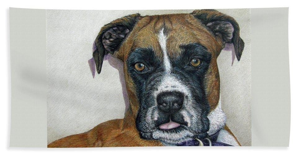 Fuqua - Artwork Beach Towel featuring the drawing Lennox by Beverly Fuqua