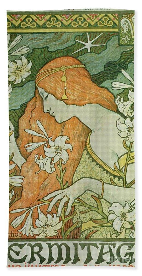 Paul Berthon Beach Towel featuring the painting Lermitage by Paul Berthon