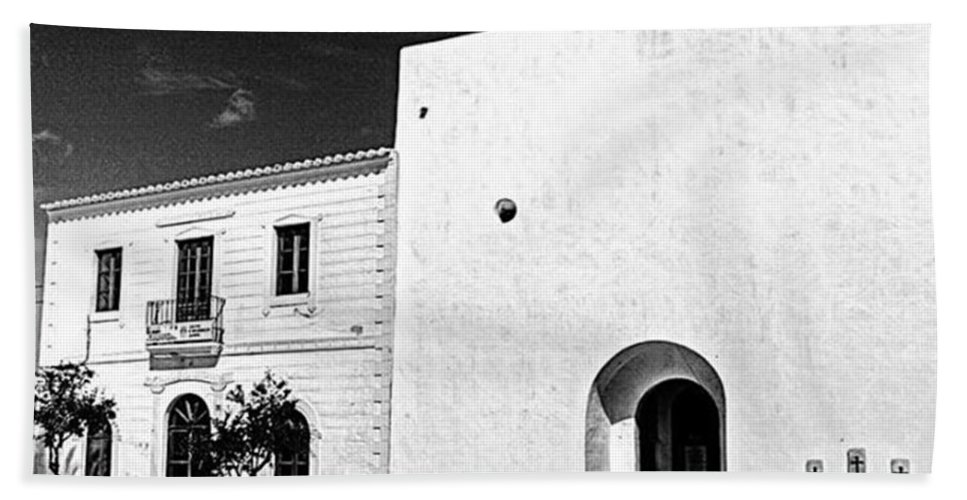 Balearics Beach Towel featuring the photograph Fortified Church, Formentera by John Edwards