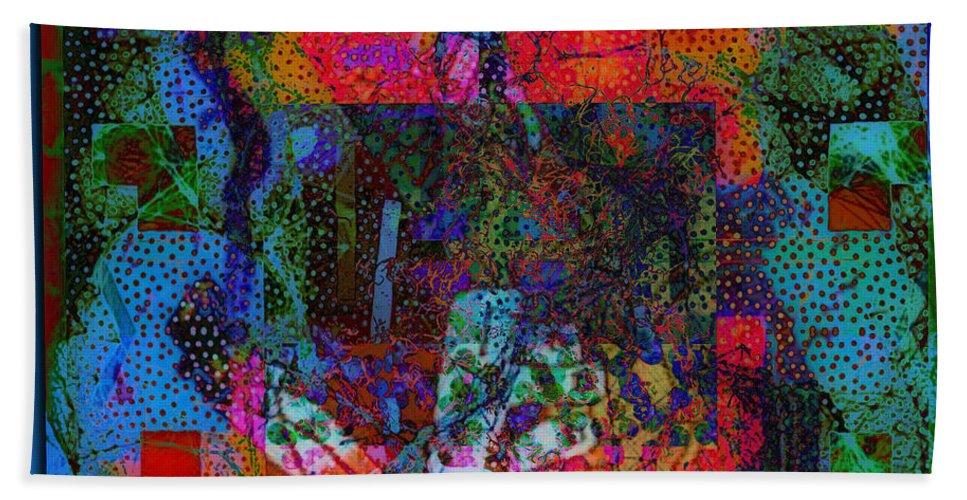 Let Freedom Jazz B Beach Towel featuring the digital art Let Freedom Jazz B by Tony Adamo