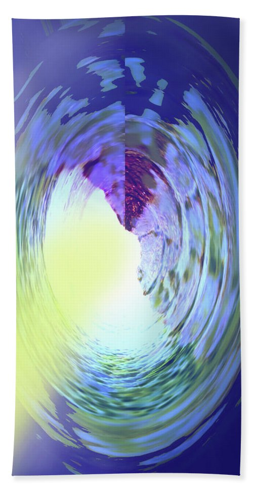 Abstract Beach Towel featuring the digital art Let The Sun Shine In by Ian MacDonald