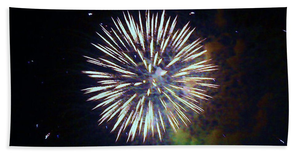 Fireworks Beach Towel featuring the photograph Lets Celebrate by Shana Rowe Jackson