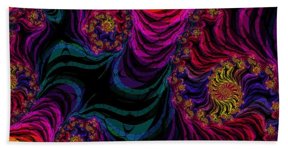 Fractal Beach Towel featuring the digital art Lets Dance by Debra Martelli