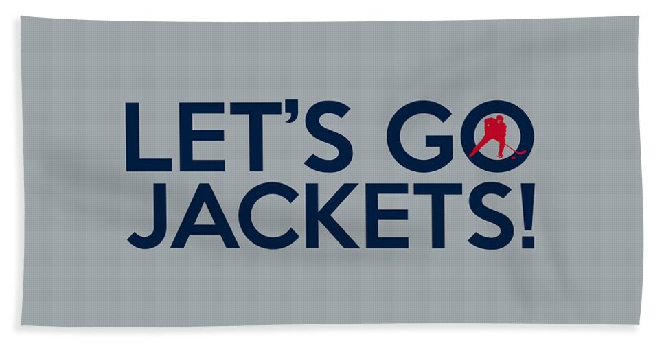 Columbus Blue Jackets Beach Towel featuring the painting Let's Go Jackets by Florian Rodarte