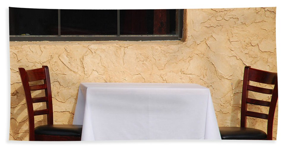 Abstract Beach Towel featuring the photograph Lets Have Lunch Together by Susanne Van Hulst