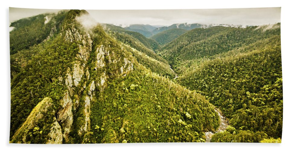 Nature Beach Towel featuring the photograph Leven Canyon Reserve Tasmania by Jorgo Photography - Wall Art Gallery
