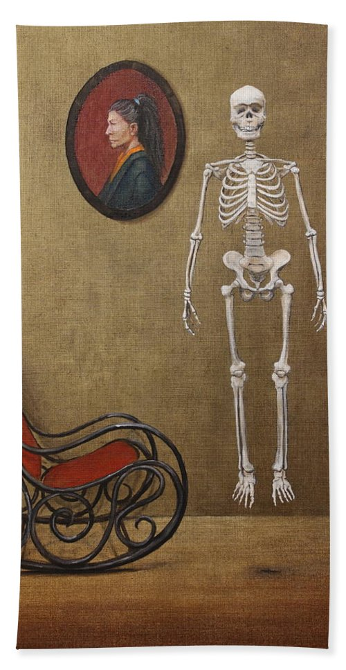 Paintings Beach Towel featuring the painting Levitation by Szabo Gyula