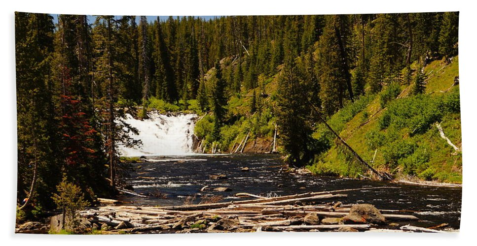 Lewis Falls Beach Towel featuring the photograph Lewis Falls by Beth Collins