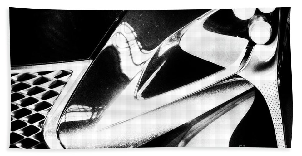 Lexus Beach Towel featuring the photograph Lexus Bw Abstract by Tom Gari Gallery-Three-Photography