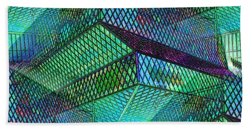 Seattle Beach Towel featuring the photograph Library Angles by Tim Allen