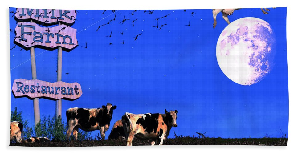 Wingsdomain Beach Towel featuring the photograph Life At The Old Milk Farm Restaurant After The Lights Went Out For The Last Time In 1986 by Wingsdomain Art and Photography