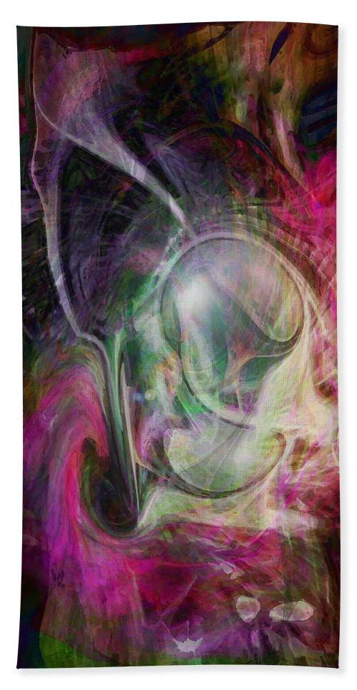Life Art Beach Towel featuring the digital art Life In Your Soul by Linda Sannuti
