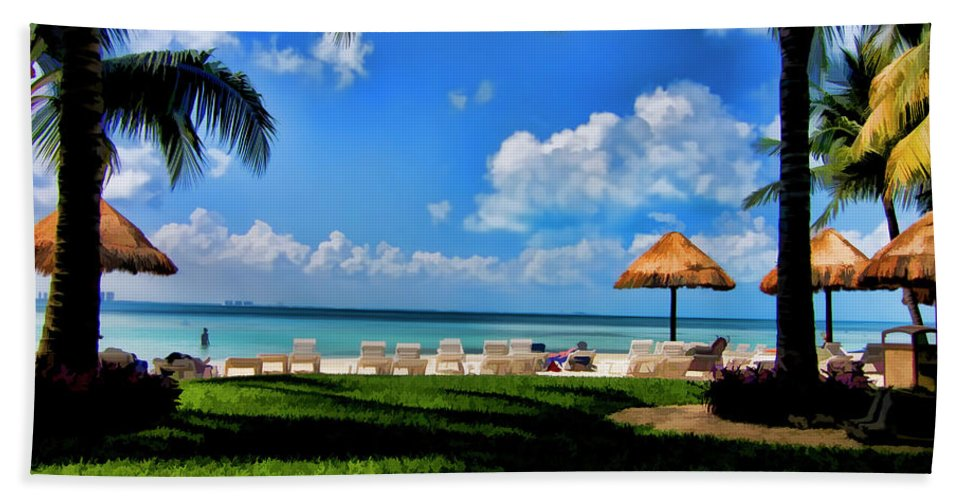 Beach Beach Towel featuring the photograph Life Is A Beach by Douglas Barnard