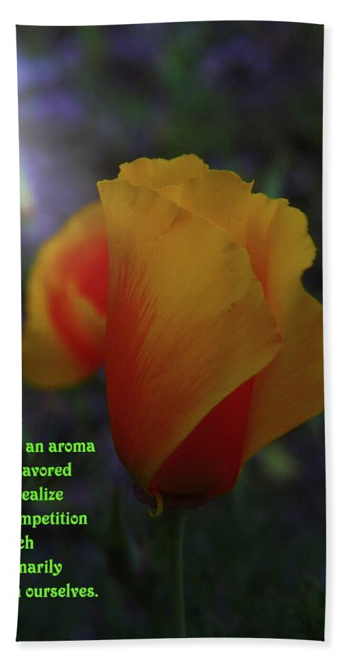 Poppy Beach Towel featuring the photograph Life Is An Aroma by Jeff Swan