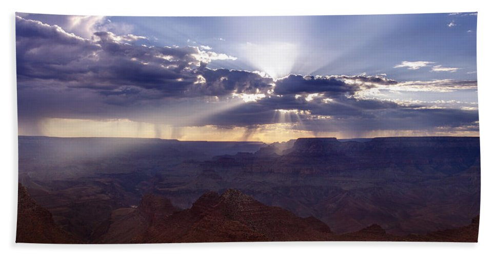 Grand Beach Towel featuring the photograph Light Explosion by Ricky Barnard