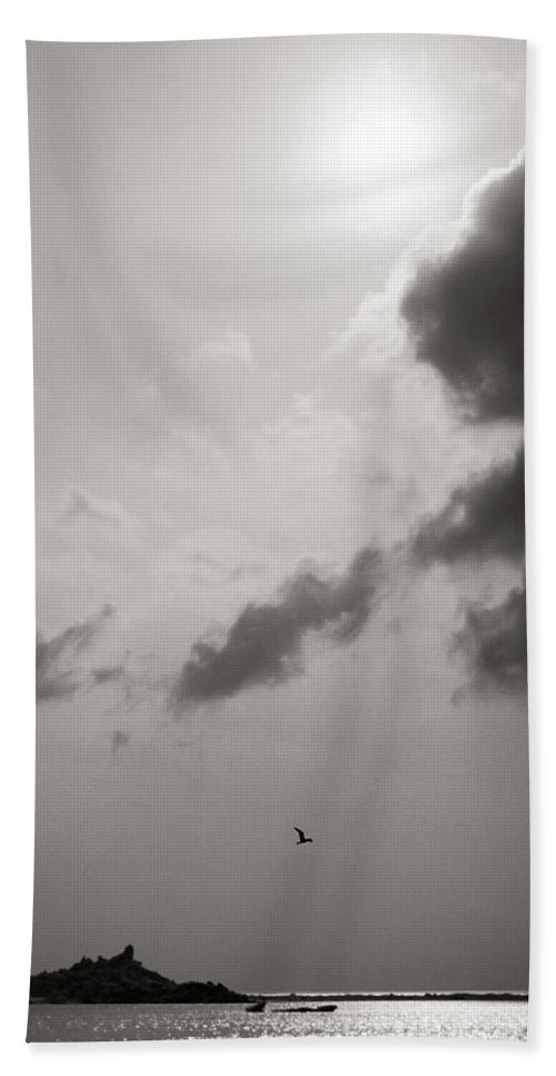 Abstract Beach Towel featuring the photograph Light Of The Sky by Konstantin Dikovsky