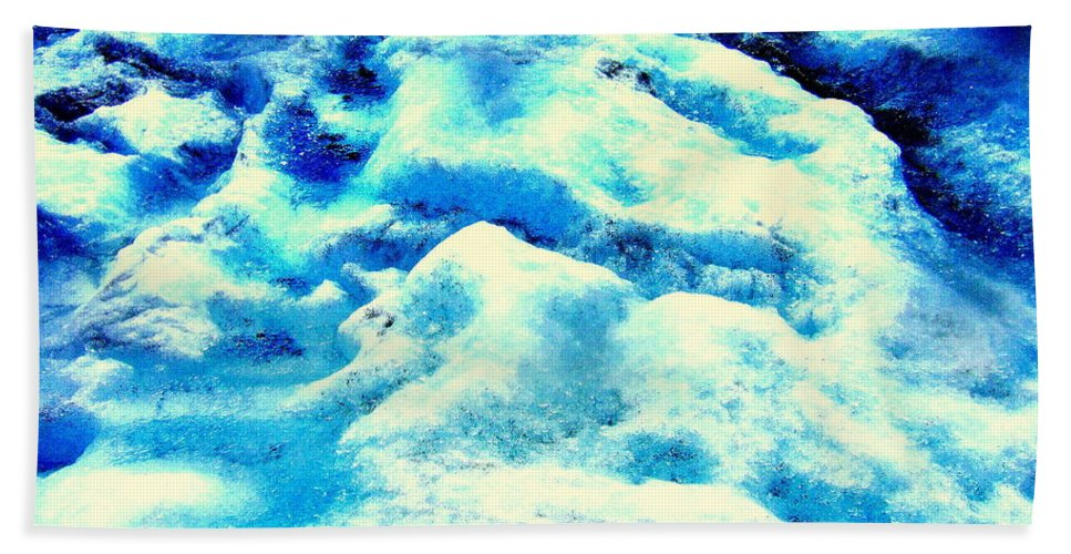 Light Beach Towel featuring the photograph Light On Glacier by Kumiko Mayer