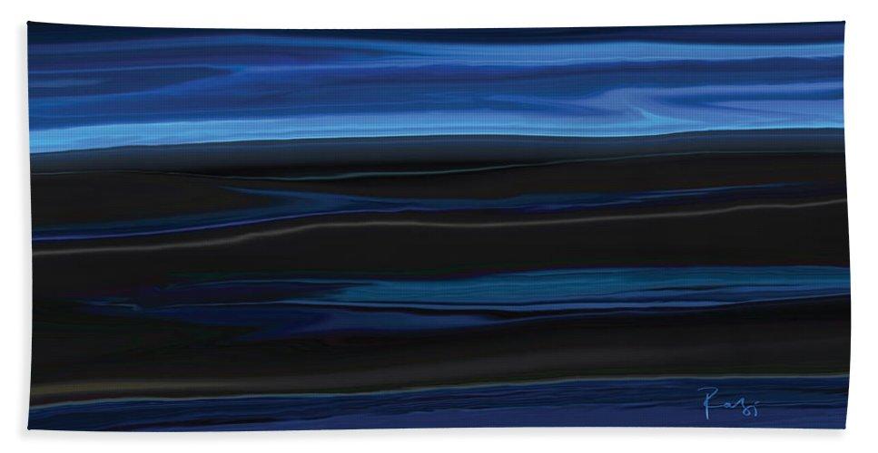 Black Beach Towel featuring the digital art Light On The Horizon by Rabi Khan