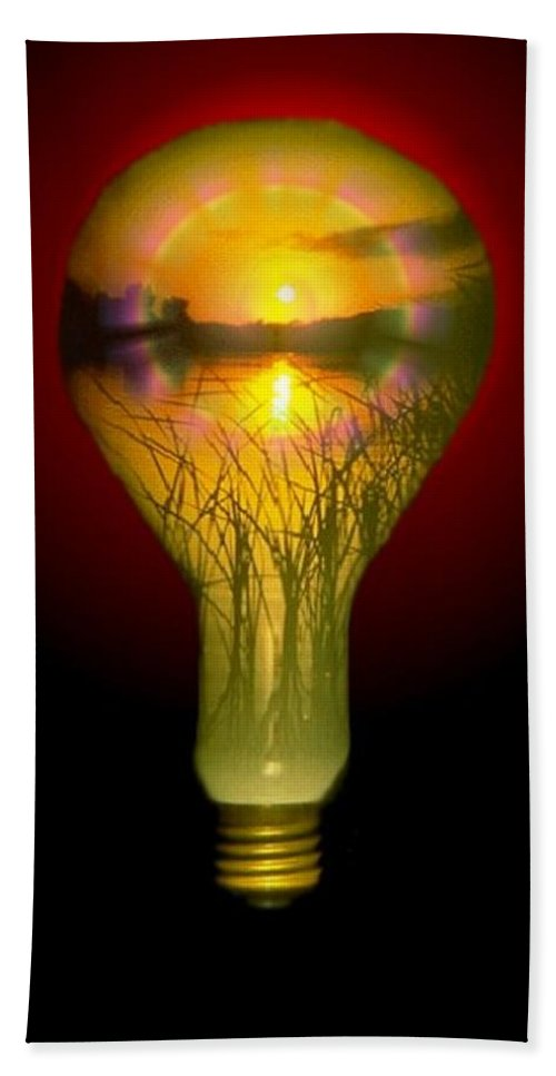 Sunset Beach Towel featuring the photograph Lighthearted Sunset by Tim Allen