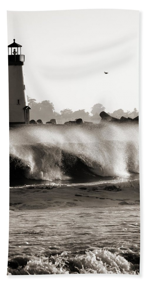 Americana Beach Towel featuring the photograph Lighthouse 1 by Marilyn Hunt