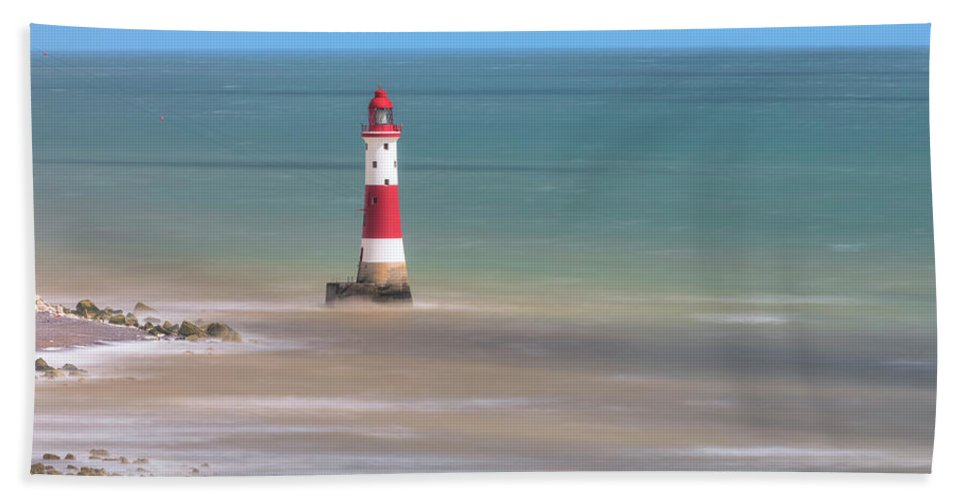 Beachy Head Beach Towel featuring the photograph Lighthouse Beachy Head - England by Joana Kruse