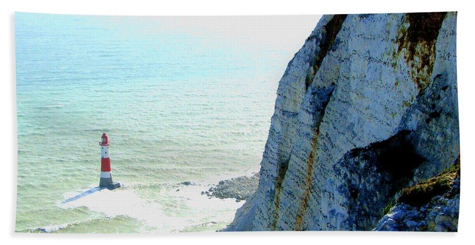 Lighthouse Beach Towel featuring the photograph Lighthouse by Heather Lennox