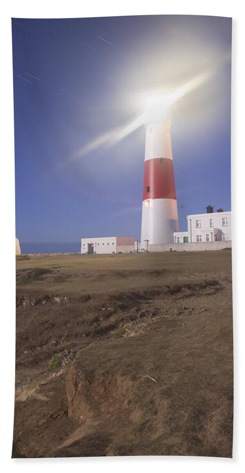 Portland Beach Towel featuring the photograph Lighthouse In Portland Bill by Ian Middleton