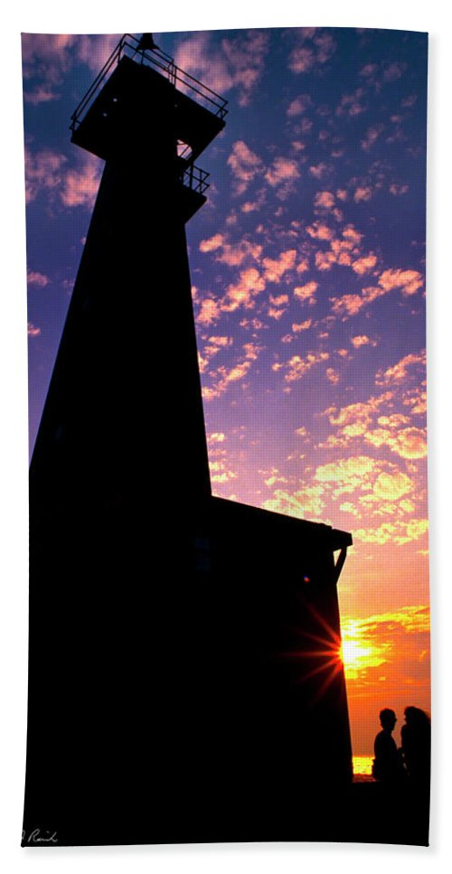 Photography Beach Towel featuring the photograph Lighthouse Lovers by Frederic A Reinecke