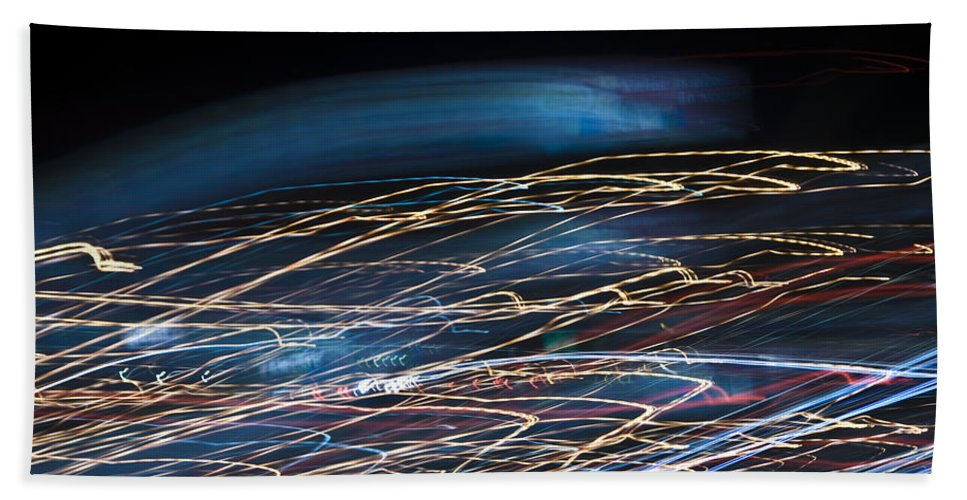 Abstract Beach Towel featuring the photograph Lights Abstract06 by Svetlana Sewell