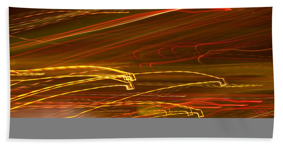 Abstract Beach Towel featuring the photograph Lights Abstract4 by Svetlana Sewell