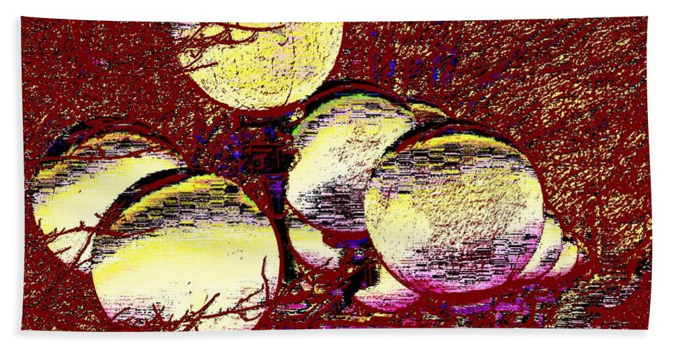 Landscape Beach Towel featuring the digital art Lights Along The Way 5 by Tim Allen