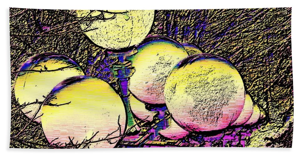 Landscape Beach Towel featuring the digital art Lights Along The Way by Tim Allen