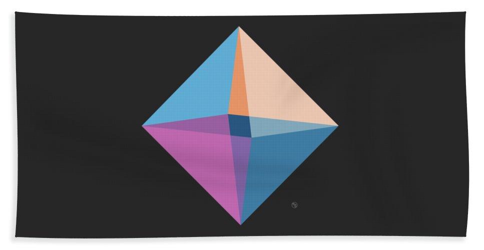 Diamond Beach Towel featuring the digital art Like A Diamond by Ruruflo