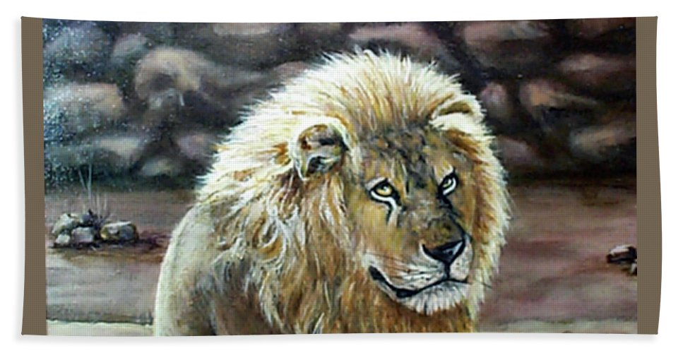 Fuqua - Artwork Beach Towel featuring the painting Like Father by Beverly Fuqua