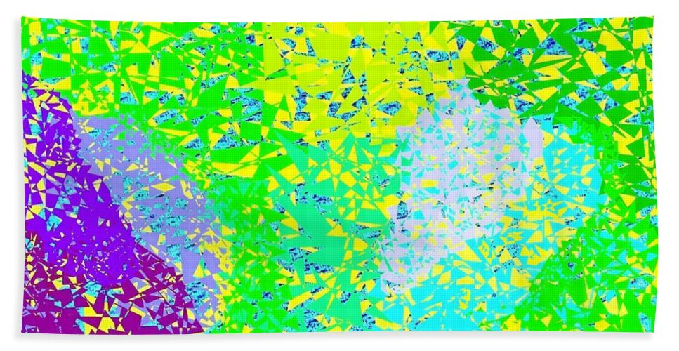 Abstract Beach Towel featuring the digital art Lilac Lane by Will Borden