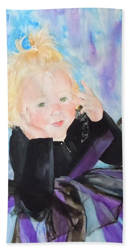Child Beach Towel featuring the painting Lily by Jean Blackmer
