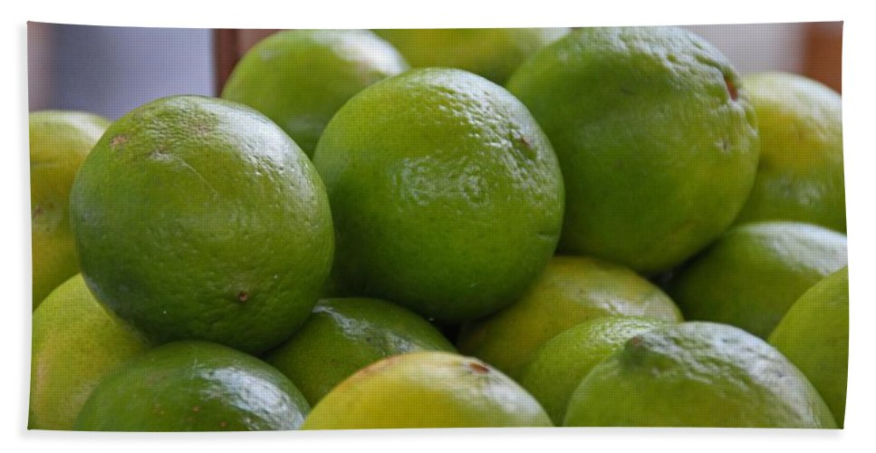 Limes Beach Towel featuring the photograph Limes by Michiale Schneider