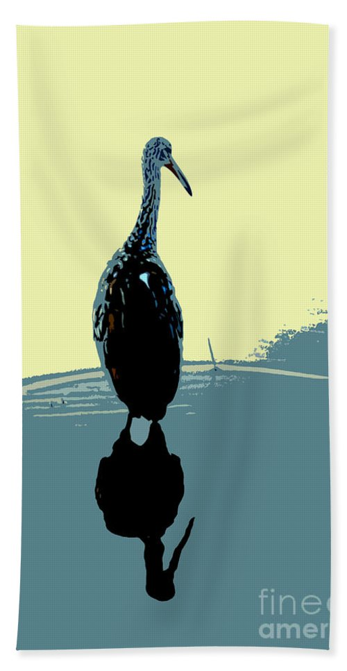 Bird Beach Towel featuring the photograph Limp Kin In Color by David Lee Thompson